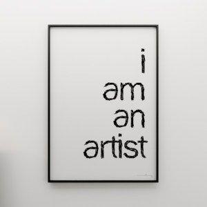 Grafika I AM AN ARTIST - Trafiony prezent