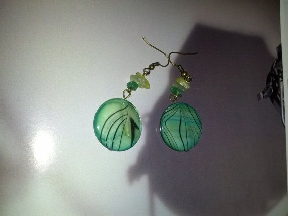 Greenie Earring  sale was 9.45 by Girlscode on Etsy, $7.45