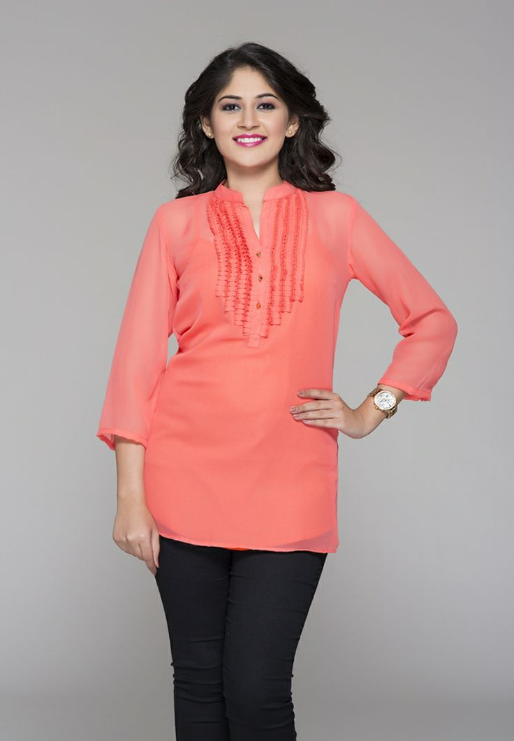 Buy latest GEORGETTE PLEATING TUNIC in India on itibeyou.com. Different types of Tunics are ...
