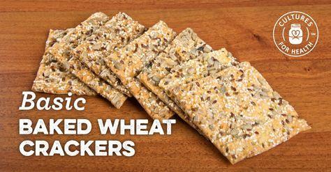 Basic Baked Wheat Crackers