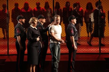 Joyce DiDonato as Sister Helen Prejean and Philip Cutlip as Joseph De Rocher in Jake Heggie's opera Dead Man Walking.
