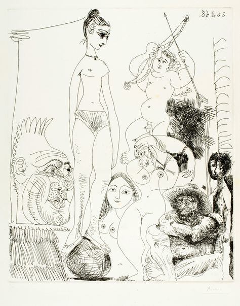 Pablo Picasso – Etching from Suite 347, 1968
