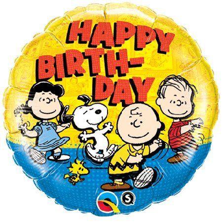 Happy Birthday Peanuts Gang 18 Party Mylar Foil Balloon @ niftywarehouse.com #NiftyWarehouse #Peanuts #CharlieBrown #Comics #Gifts #Products