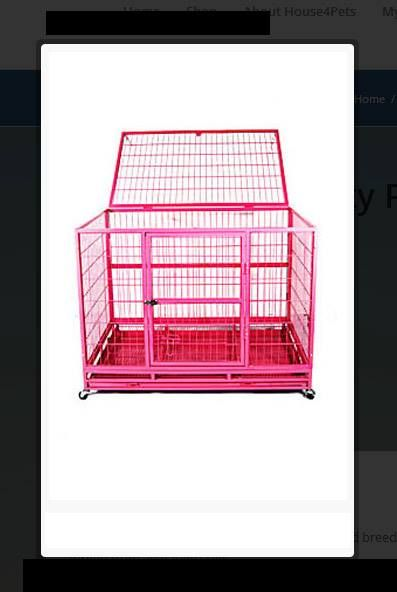 30″ Pink Heavy Duty Pet Crate   This is a heavy duty cage designed for pitbull and breeder, this #cage constructed with the 3/4″ frame, forged from 20-gauge steel. http://house4pets.com/product/30-pink-heavy-duty-pet-crate/  #Crate #HeavyDutyPetCrate
