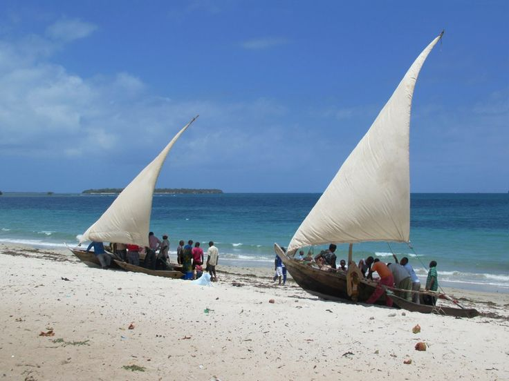 Locals gather to buy fish fresh from the Indian Ocean at South Beach near Dar es Salaam, Tanzania.