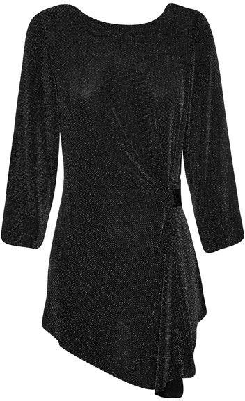NONI B Lurex Wrap Top With Buckle $129.95 AUD  3/4 sleeve round neck top with side buckle 87% nylon 8% metallic 5% elastane  Item Code: 046492