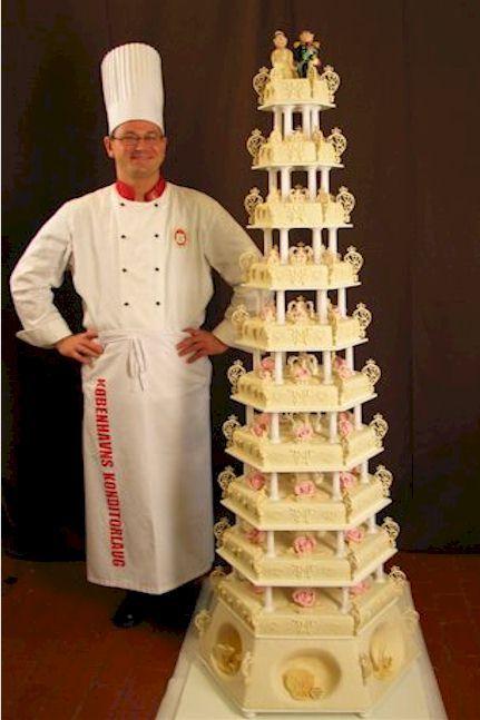 mary_og_frederiks_kage.jpg.  The Danish crownprince and crownprincesse wedding cake.