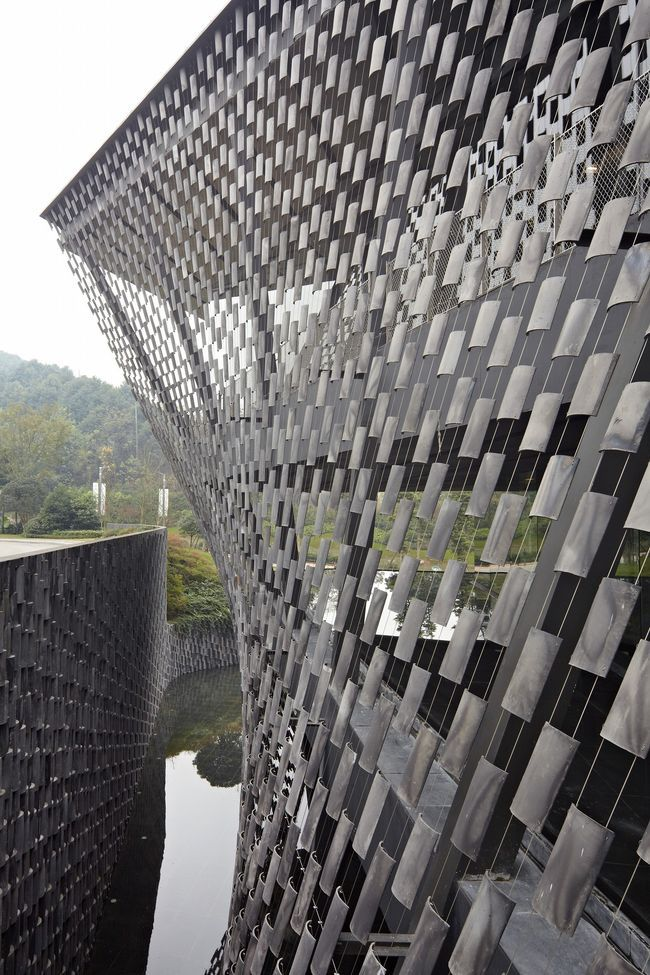 Xinjin Zhi Museum, Cheng du, China by Kengo Kuma Architect