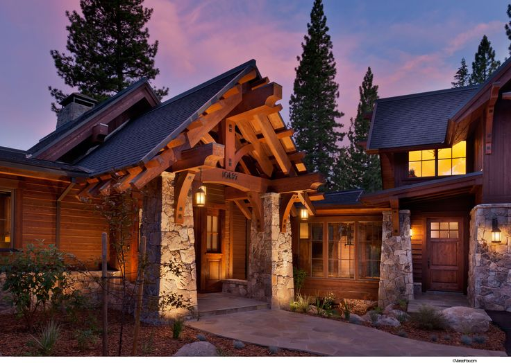 49 best exteriors images on pinterest log homes log for Custom mountain homes