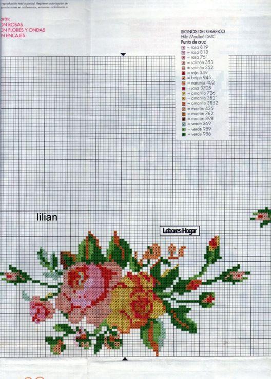17 best images about manteles en punto de cruz on pinterest - Manteles de punto de cruz ...