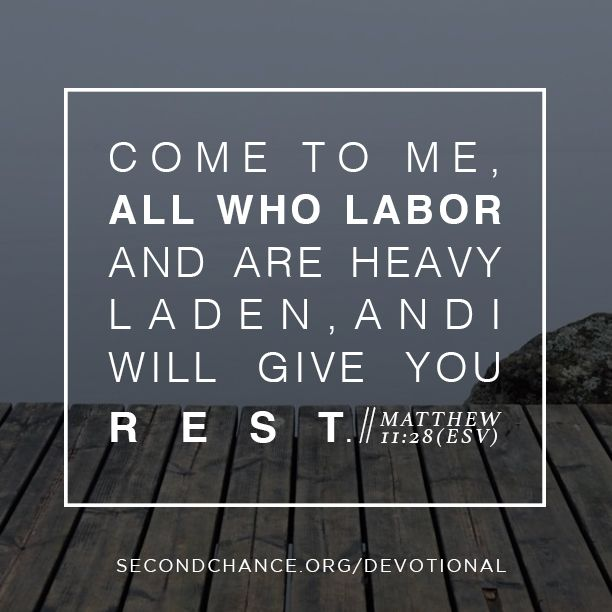 Come to me all who labor and are heavy laden, and I will give you rest. // Sign up for encouraging 40 day devotionals!