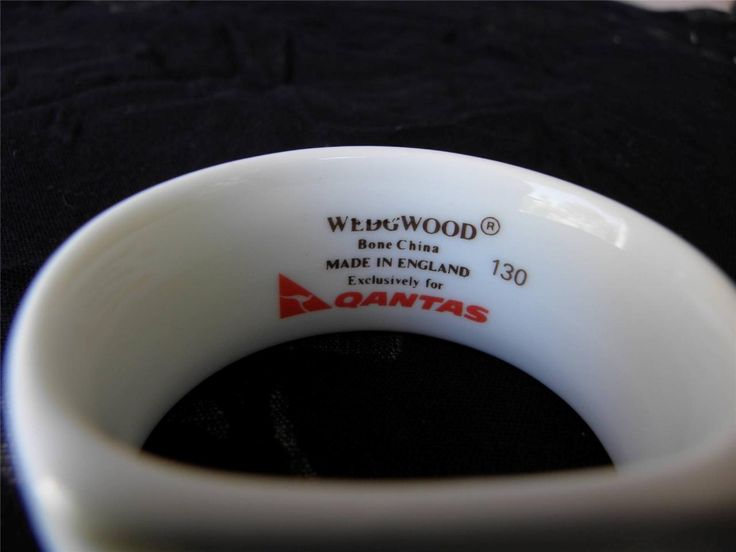 Wedgewood for Qantas Bone China Numbered Gilded Napkin Ring Serviette Holder