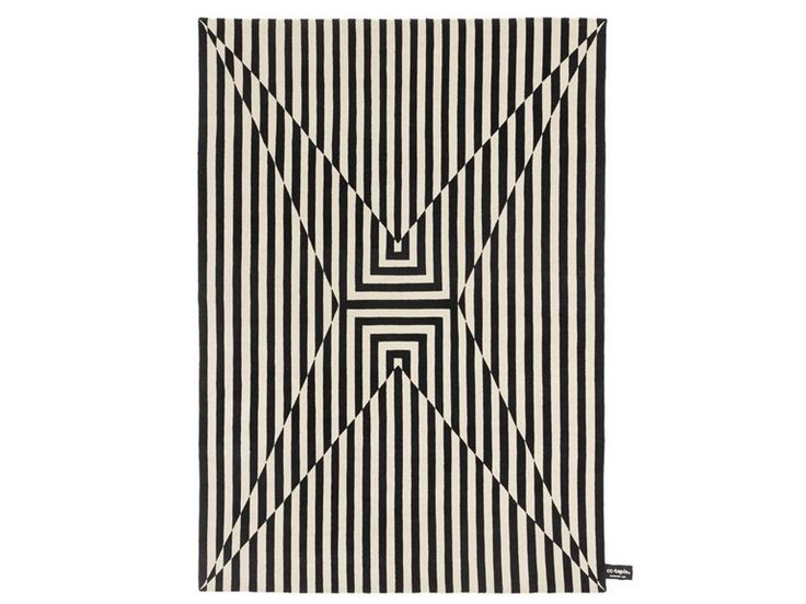 Handmade rectangular rug OPSTAR by cc-tapis ® design Vincent Marsiglia
