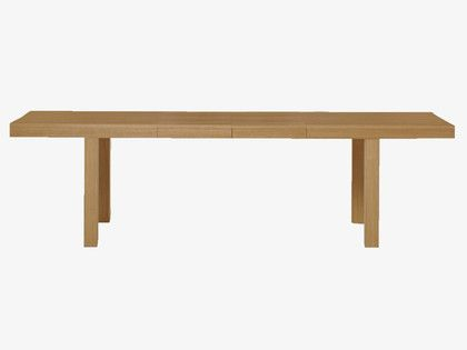 JERICO Lacquered extending dining table