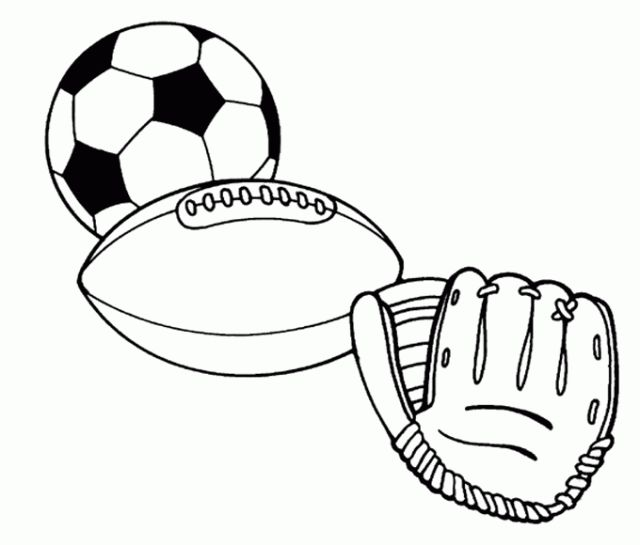 pages named pictures of sports sports balls free printable coloring pages - Sports Coloring Book