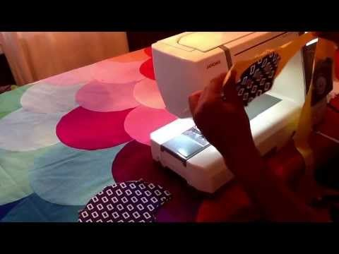 """Glam Clam Quilt - Piecing Without Pins! I made a """"Glam Clam"""" quilt and this video is AWESOME-- Way easier to make than you'd ever think!"""