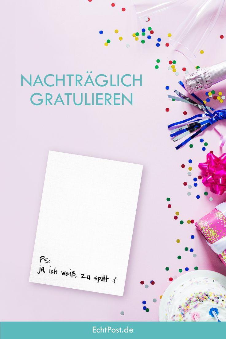 Nachtraglich Gratulieren Per Postkarte Diese Postkarte Ist Genau