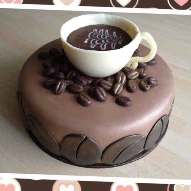 54 Best Coffee Themed Cakes Images On Pinterest