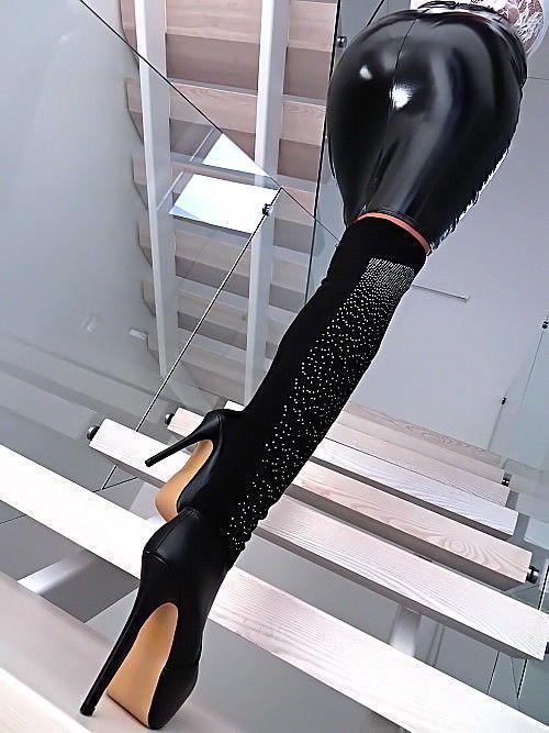 STIEFEL OVERKNEE PLATEAU STRETCH DAMENSCHUHE R29 STRASS BOOTS SEXY HIGH HEELS #hothighheelssexyoutfits #highheelbootslingerie