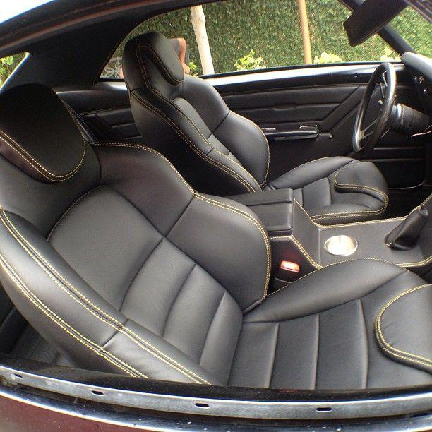 CA California Upholstery Camaro Red And Yellow Custom Interior Console Seats