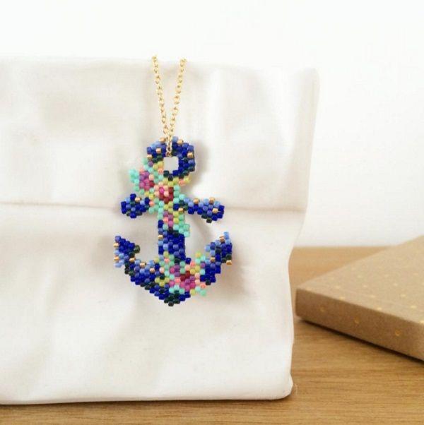 Schema Pendentif ancre marine en perles miyuki de Mon petit bazar