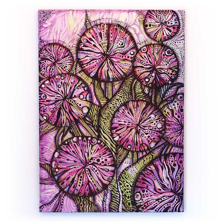 Summer Allium | Akryl na płótnie | 70 x 50 x 2 cm