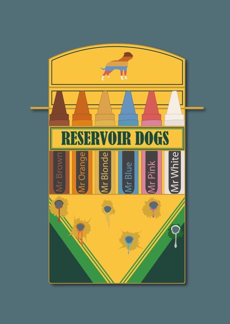 Reservoir Dogs (1992) ~ Minimal Movie Poster by David Peacock #amusementphile
