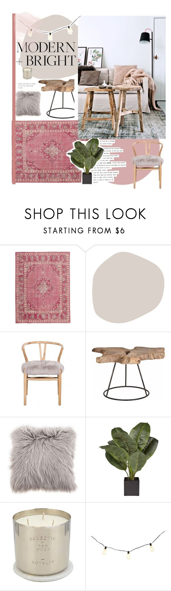 """Modern & bright living"" by anna-lena-als ❤ liked on Polyvore featuring interior, interiors, interior design, home, home decor, interior decorating, Orient Express Furniture, Tom Dixon, Smith & Hawken and modern"