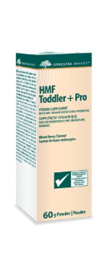 HMF Toddler + Pro by Genestra HMF Toddler+Pro includes probiotics clinically proven for the prevention of atopy in infants