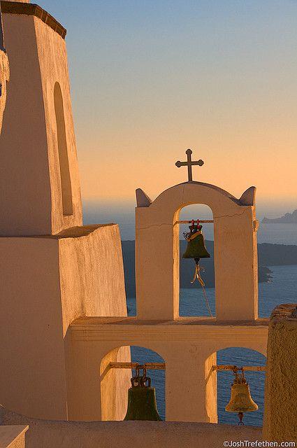 ღღ  Sunset Glow - Fira, Greece by JoshTrefethen.com