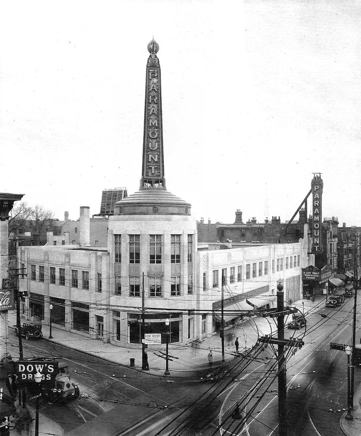 The Paramount Theater was built in 1931 and replaced the Peebles store. Description from cincinnativiews.net. I searched for this on bing.com/images