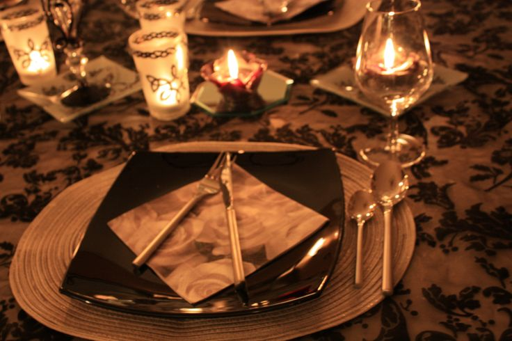 A detail from my table setting New Year's Eve 2013