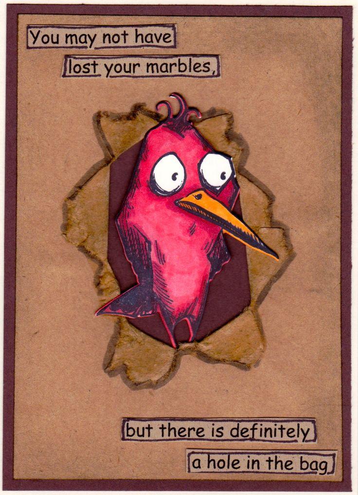 Tim Holtz Crazy Birds Orig.design: cmargo / splitcoaststampers / grocery bag used