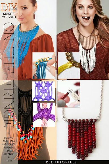 Perfect for Spring! Rediscover the fringe necklace and learn how to make different ones | DiaryofaCreativeFanatic