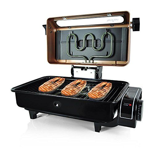 NutriChef Electric Grill Grilling Indoor and Outdoor Tabletop Use For Fish Meat Chicken  With Removable and Dishwasher Safe Griddle Gold PKFG16 * For more information, visit