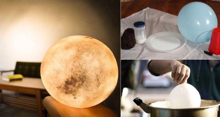 Convierte un simple globo en una luna llena que brillará todas las noches