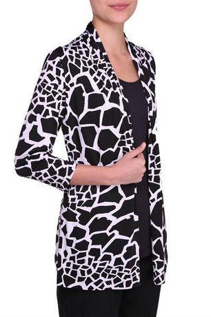 Walmart, Alia Women's 3/4 Sleeve Cardigan Fooler, Black, $19.97