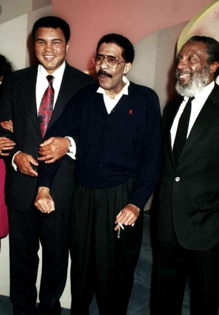Muhammad Ali, Richard Pryor & Dick Gregory  Legendary black kings ✊