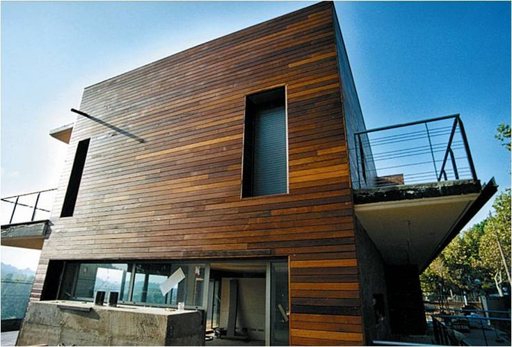 Walnut wood cladding new house pinterest