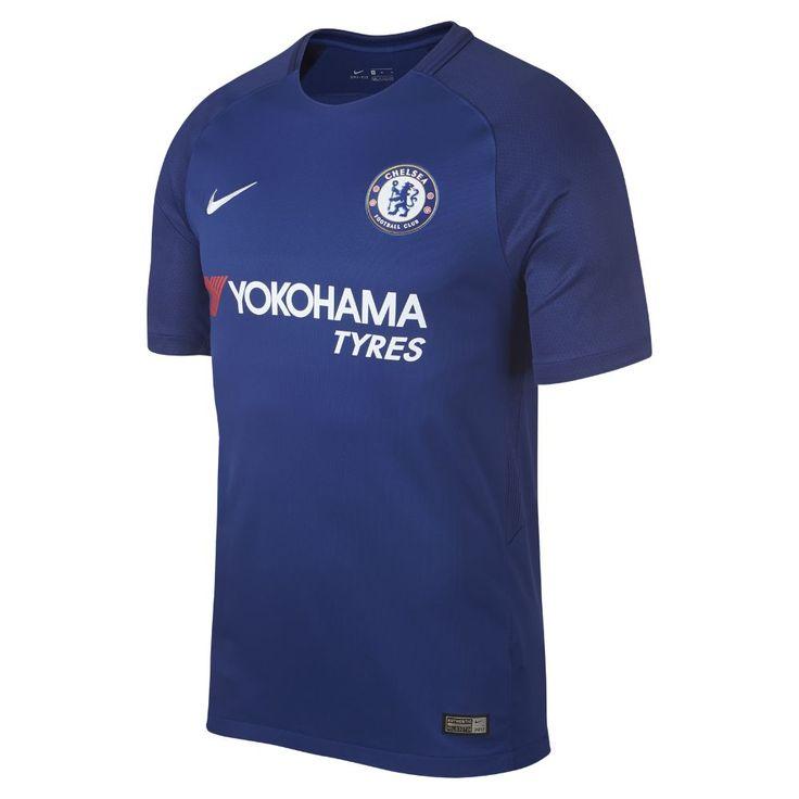 Nike 2017/18 Chelsea FC Stadium Home Men's Soccer Jersey Size Medium (Blue)