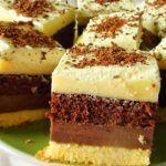 Prajitura bicolora cu gem este un desert usor de facut din cateva ingrediente pe care sigur le aveti la indemana. Combinatia de blat simplu-gem-blat cacao-ness, alcatuiesc o prajitura excelenta.
