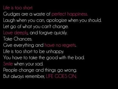 #life is too short quote