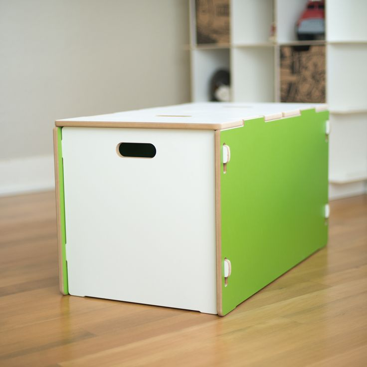 Adorable Green Modern Toy Box. Perfect Addition To Playroom Or Nursery.  Great Toy Storage