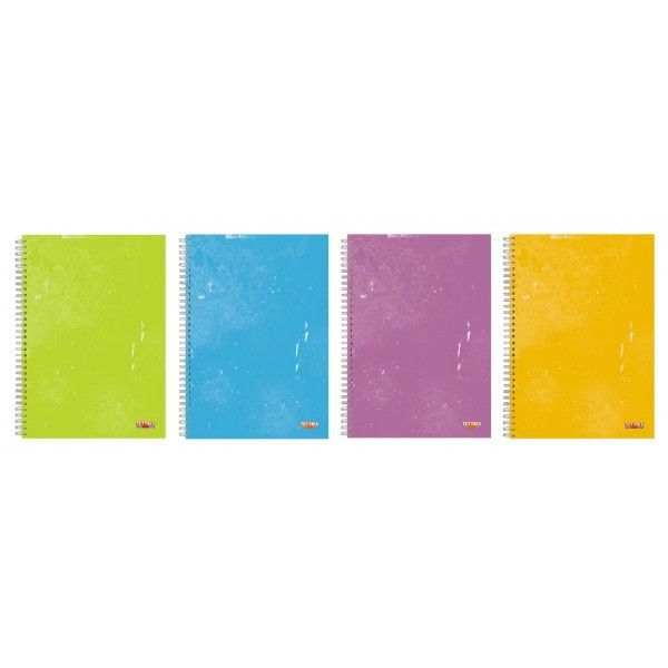 "COVER WITH 4 SEPARATORS SUBJECTS  FOR REPLACEABLE TYPE SPIRAL  NOTEBOOKS ""NO PROBLEM"" TYPE  4 packages per box.  Includes: 1 cover and 4 separators subjects."