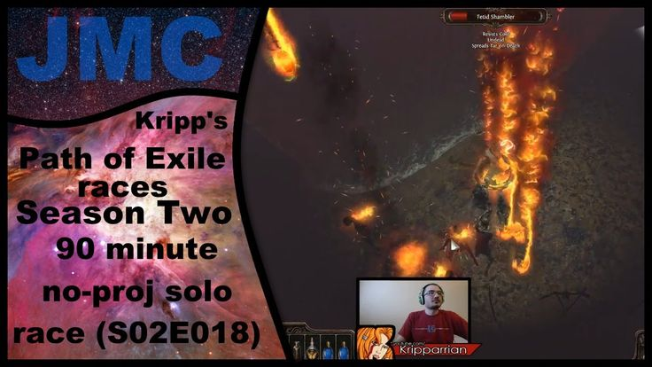 Kripp's Path of Exile races - Season Two, 90 Minute No-Proj Solo (S02E018)