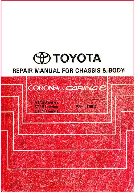 New post (PDF ONLINE – Toyota Carina Corona 1992 Repair Manual For Chassis & Body) has been published on ProCarManuals.com  (procarmanuals.com…)