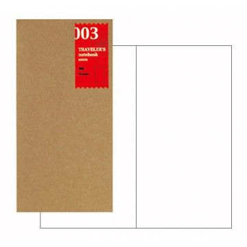 Midori TRAVELERS Notebook // Refill 003 : Plain Notebook-31