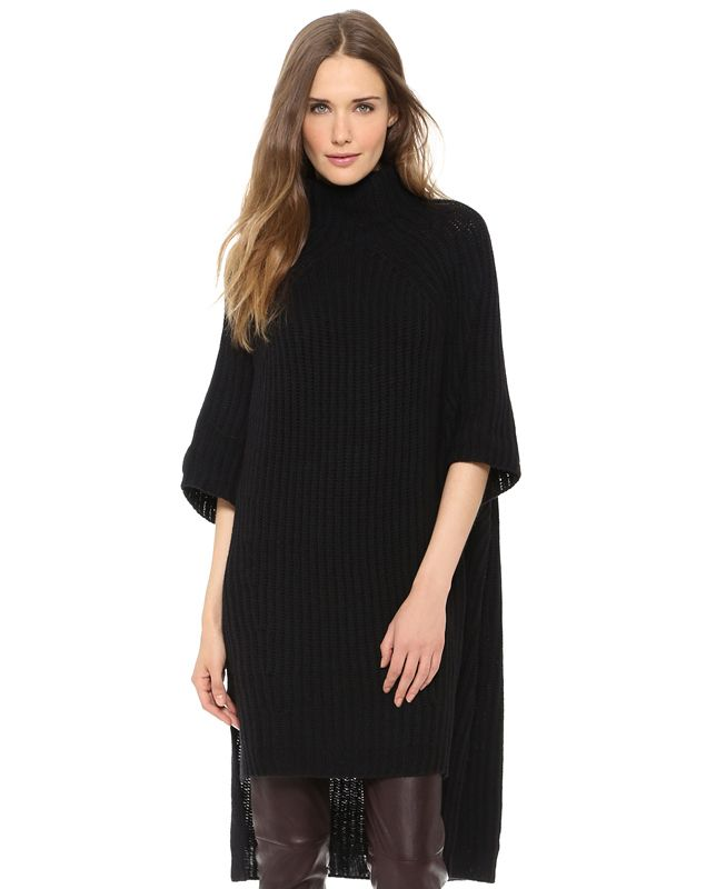 Black Half Sleeve Oversized High Low Sweater - Fashion Clothing, Latest Street Fashion At Abaday.com