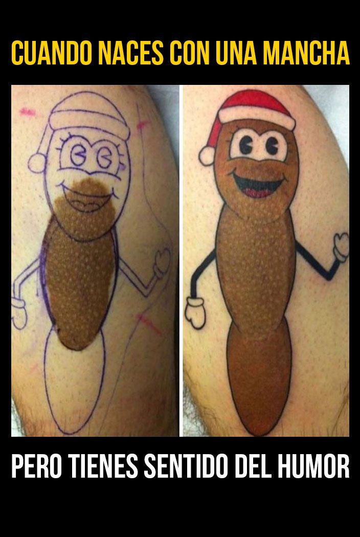 Galería: 14 Personas que fusionaron sus marcas de nacimiento con tatuajes geniales | NotiNerd