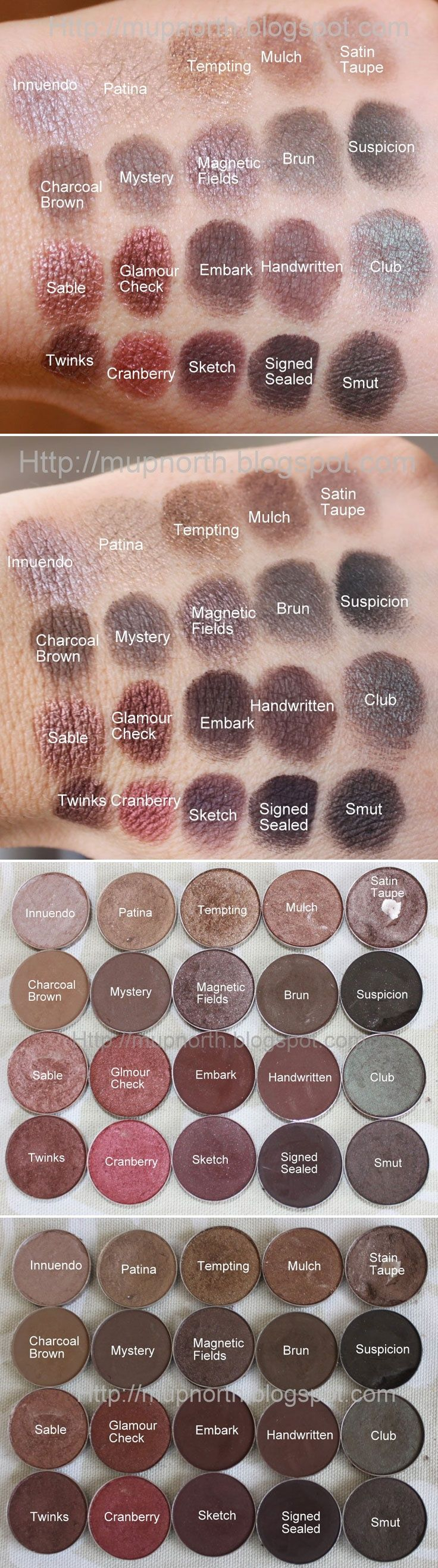 SWATCHES :: MAC Browns & Plums: